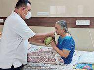 દીકરીના ફોનથી હ્રદય દ્રવી ઉઠ્યું, ગણદેવીની તમામ હોસ્પિટલના દર્દીઓને નાળિયેરનું પાણી પીવડાવ્યું|નવસારી,Navsari - Divya Bhaskar