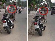 પોલીસકર્મીએ રોડ પર ઊભેલી લારીમાંથી ઈંડા ચોર્યા, વીડિયો વાઇરલ થતાં સસ્પેન્ડ ઈન્ડિયા,National - Divya Bhaskar