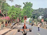 વાવાઝોડાના પગલે સાવચેતીના પગલાં, શહેરમાં માર્ગો પર વૃક્ષોની ભયજનક ડાળીઓ તોડી પડાઇ|જામનગર,Jamnagar - Divya Bhaskar