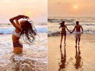 જાન્હવી કપૂર દરિયા કિનારે એનિમલ પ્રિન્ટેડ બિકીનીમાં જોવા મળી, તસવીરમાં દેખાતો મિસ્ટ્રી મેન કોણ છે? બોલિવૂડ,Bollywood - Divya Bhaskar