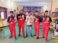 शिवपुरी के खिलाड़ियों ने बॉक्सिंग में दो, कुश्ती और कबड्डी में एक-एक स्वर्ण पदक जीता|ग्वालियर,Gwalior - Dainik Bhaskar