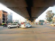 लोहगढ़-एमसी ऑफिस रोड पर अंडरपास के नीचे ट्रैफिक लाइट न लगने से हो रहे हादसे|जीरकपुर,Zirakpur - Dainik Bhaskar