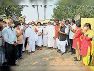आचार्य महाश्रमण पहुंचे केशलूर, अहिंसा परमो धर्म: का दिया संदेश|जगदलपुर,Jagdalpur - Dainik Bhaskar