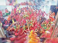 स्वर्णकार समाज नगर की ओर से बुधवार को रूप चतुर्भुज भगवान को पौष बड़ों का भोग|भीलवाड़ा,Bhilwara - Dainik Bhaskar