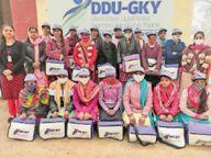 निश्शुल्क सिलाई मशीन ऑपरेटर कोर्स में शामिल युवतियों में बांटीं वेलकम किटें|फाजिल्का,Fazilka - Dainik Bhaskar