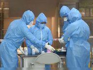 कोरोना संक्रमितों की संख्या में गिरावट, लेकिन माैत का सिलसिला जारी|पंचकूला,Panchkula - Dainik Bhaskar