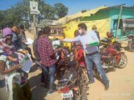 बिना हेलमेट पहने आए बाइक सवारों को किसी हाल में पेट्रोल न दें पंप कर्मी- एसपी|गुमला,Gumla - Dainik Bhaskar