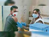 अब तक 400 को लगना थी वैक्सीन, कर्मचारियों की उदासीनता से 267 को ही लगे टीके|टीकमगढ़,Tikamgarh - Dainik Bhaskar