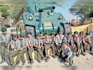 स्कूली बच्चों ने देखी सेना की ताकत,1971 के भारत-पाकिस्तान युद्ध स्थल की जानकारी ली|सवाई माधोपुर,Sawai Madhopur - Dainik Bhaskar