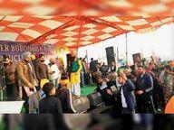 गायकों ने कृषि कानूनों के खिलाफ खड़े रहने का दिया संदेश|बहादुरगढ़,Bahadurgarh - Dainik Bhaskar