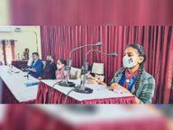 आरडी गर्ल्स कॉलेज में लगा विधिक साक्षरता शिविर, कानूनी जानकारी दी|भरतपुर,Bharatpur - Dainik Bhaskar