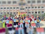 ओलंपियाड और क्विज प्रतियोगिता के विजेताओं को डीएम ने किया सम्मानित|कैमूर,Kaimur - Dainik Bhaskar