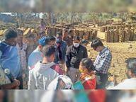 भोपाल की सीमा बताकर रायसेन में बना रहे थे ईंट, दो लाख ईंटं जब्त कर ग्रामीणों को दीं रायसेन,Raisen - Dainik Bhaskar