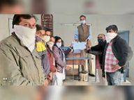 कृषि बिलों को निरस्त करने की मांग, ज्ञापन|नागौर,Nagaur - Dainik Bhaskar