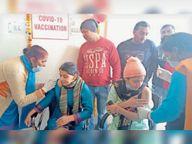 उत्साह ऐसा कि नागरिक अस्पताल में पहली वैक्सीन लगवाने को लेकर डॉक्टरों को उछालना पड़ा सिक्का|गोहाना,Gohana - Dainik Bhaskar