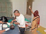 बारातियों से भरा ऑटाे पलटा पांच साल के बच्चे की माैत|बांसवाड़ा,Banswara - Dainik Bhaskar