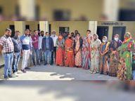 पीडी खाता खुलवाने का विराेध, पंचायताें में सरपंचाें की तालाबंदी, सीईओ को सौंपा ज्ञापन|उदयपुर,Udaipur - Dainik Bhaskar