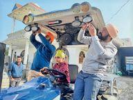 फिरोजपुर में 70 साल की बुजुर्ग ने मॉडिफाई कराया ट्रैक्टर ताकि बेटे आराम से जा सकें दिल्ली फिरोजपुर,Firozpur - Dainik Bhaskar