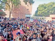 कर्मियों का प्रोटेस्ट, कहा- कृषि कानूनों, बिजली अमेंडमेंट बिल को किया जाए रद्द|चंडीगढ़,Chandigarh - Dainik Bhaskar
