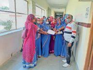 आशा-सहयोगिनियों ने किया कार्य का बहिष्कार|बाड़मेर,Barmer - Dainik Bhaskar