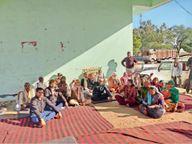 कृषि कानूनों को वापस लेने की मांग के लिए किसान यूनियन ने दिया धरना|धौलपुर,Dholpur - Dainik Bhaskar
