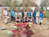 वन्य प्राणी सांभर का शिकार करने वाले 4 आरोपी गिरफ्तार|रायपुर,Raipur - Dainik Bhaskar