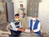 बरवाली सरपंच ने मकराना विधायक काे जनसमस्याओं से कराया अवगत|नागौर,Nagaur - Dainik Bhaskar