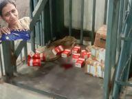गोदाम की लिफ्ट में फंसकर महिला कर्मचारी की दर्दनाक मौत, 3 बच्चों के पालन का एकमात्र सहारा थी गुजरात,Gujarat - Dainik Bhaskar