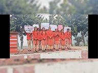 एकमे स्कूल में उत्साह से मनाया नेशनल गर्ल चाइल्ड-डे|जलालाबाद,Jalalabad - Dainik Bhaskar