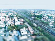 भिलाई-कोरबा के बीच 5 इंजन व 300 बोगियों वाली गुड्स ट्रेन चली, लंबाई साढ़े तीन किलोमीटर भिलाई,Bhilai - Dainik Bhaskar