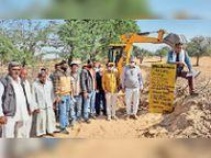 गूंदीसर के गांव नुन्द में पांच रास्तों से अतिक्रमण हटाए, ग्रामीणों को राहत|डेगाना,Degana - Dainik Bhaskar