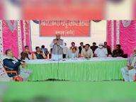 मकराना मार्बल खनन क्षेत्र की समस्याओं का एकजुटता से निस्तारण करवाएंगे - गैसावत|मकराना,Makrana - Dainik Bhaskar