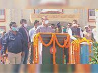 हजारीबाग स्टेशन पर लहराया 100 फीट का तिरंगा|हजारीबाग,Hazaribagh - Dainik Bhaskar