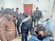 तेज रफ्तार स्कॉर्पियो ने बाइक सवार को कुचला, दो की मौत|जमुई,Jamui - Dainik Bhaskar