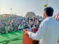पड़ाव स्थलों पर बढ़ी किसानों की संख्या 26 काे दिल्ली कूच की तैयारियां शुरू|श्रीगंंगानगर,Sriganganagar - Dainik Bhaskar