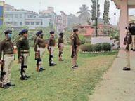 औचक जांच में कोतवाली कैंपस पहुंचीं एसएसपी, बिना वर्दी के पुलिसवालों को फटकार|भागलपुर,Bhagalpur - Dainik Bhaskar