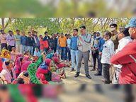 गंगरेल को नई तहसील में जोड़ा तो लोगों ने 12 घंटे तक लगाया जाम|धमतरी,Dhamtari - Dainik Bhaskar