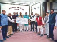राम मंदिर के लिए श्री वैष्णव शैक्षणिक ट्रस्ट 51 लाख रु. देगा|इंदौर,Indore - Dainik Bhaskar