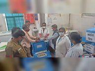 कल से जिले के सात केंद्रों पर लगेंगे कोरोना के टीके|होशंगाबाद,Hoshangabad - Dainik Bhaskar