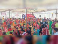भागवत कथा के समापन पर हुआ भंडारा|होशंगाबाद,Hoshangabad - Dainik Bhaskar
