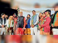 एक ही दाैरे में शहर के 70 में से 40 वार्ड कवर किए भाजपा प्रदेश अध्यक्ष पूनिया ने|भीलवाड़ा,Bhilwara - Dainik Bhaskar