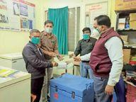 कोविशील्ड के 440 डोज आए, आज भेजेंगे मैसेज, पहला टीका मेडिकल ऑफिसर को लगेगा|जावरा,Jaora - Dainik Bhaskar