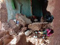 सो रहे परिवार के 6 लोगों पर दीवार गिरी, गर्भवती और भाई की मौत|खंडवा,Khandwa - Dainik Bhaskar