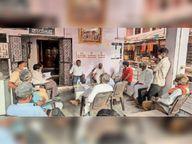 चैत्र नवरात्र महोत्सव से पहले जोगणिया माता मंदिर पर तैयारी संबंधी बैठक|भीलवाड़ा,Bhilwara - Dainik Bhaskar