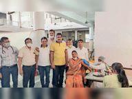शांतिभवन में श्री महावीर युवक मंडल सेवा संस्थान व चिकित्सा एवं समाज कल्याण विभाग का शिविर|भीलवाड़ा,Bhilwara - Dainik Bhaskar