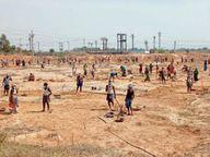 ग्रामीणों को मिल रहा रोजगार 73 हजार से अधिक श्रमिक कर रहे कार्य|रायगढ़,Raigarh - Dainik Bhaskar