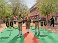 स्वर्णिम विजय मशाल पहुंची मिर्धा काॅलेज; दी गई सलामी, आज होगा रोड शो नागौर,Nagaur - Dainik Bhaskar