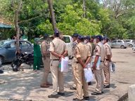 विवाद की स्थिति में पीपीई किट पहनकर अस्पताल में जाएंगे पुलिसकर्मी, विवाद ना हो इसलिए बैरिकेड्स लगेंगे; मरीज के परिजन बाहर बैठेंगे खंडवा,Khandwa - Dainik Bhaskar