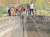 गोशाला के कुएं में पानी डाला, गायों को गर्मी में भी मिलेगा पानी व हरी घास|राणापुर,Ranapur - Dainik Bhaskar