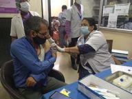 नाटाणी परिवार समिति और जयपुर व्यापार महासंघ ने लगवाया शिविर, 416 लोगों ने को लगवाई डोज|जयपुर,Jaipur - Dainik Bhaskar